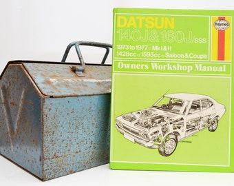 Haynes Datsun Owners Workshop Manual | Datsun 140J Owners Manual | Hardback Book | Father's Day Gift | Car Memorabilia | Book for Dad