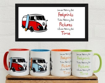 VW Camper Mugs | Mugs | Birthday Gifts | Gifts | Car Memorabilia | Car Enthusiasts | VW Camper | Camping | VW | Holidays