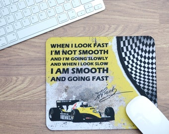 Mousepads Alain Prost Quote | Birthday Gifts | F1 Gifts | Car Memorabilia | Car Enthusiasts | Motorsport Gifts | Office | F1 | Renault