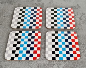 Fina Coasters | Coaster | Birthday Gifts | Chequered Coasters | McLaren Gifts | Motorsport | BMW Gifts | Beer Coasters | Racing Coasters
