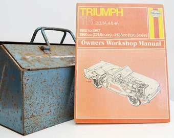 Haynes Triumph Owners Workshop Manual | Triumph TR2, TR3 & TR4 Owners Manual | Hardback Book | Birthday Gift | Car Memorabilia |