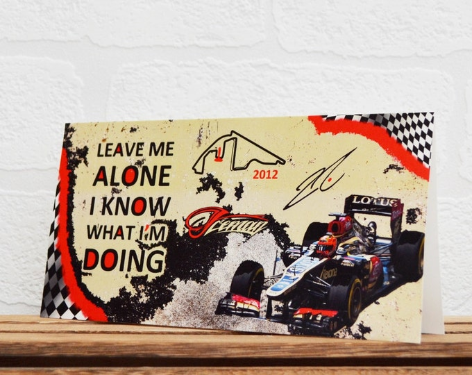 Featured listing image: Greeting Cards   Kimi Raikkonen   Birthday Cards   Car Memorabilia   Driver Quotes   Cards   Special Occasions   Motorsport Cards  
