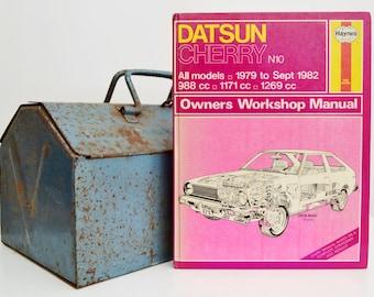 Haynes Datsun Owners Workshop Manual | Datsun Cherry | Datsun Owners Manual | Hardback Book | Father's Day Gift | Car Memorabilia |