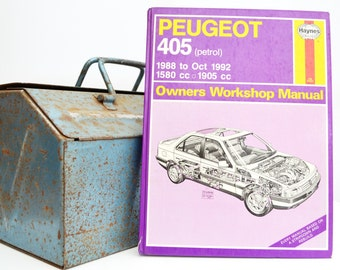 Haynes Peugeot Owners Workshop Manual   Peugeot 405 Owners Manual   Hardback Book   Birthday Gift   Car Memorabilia   Book for Dad  