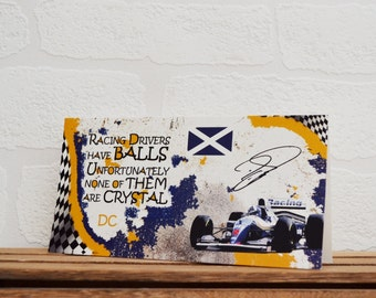 Greeting Cards | David Coulthard | Birthday Cards | Car Memorabilia | Driver Quotes | Cards | Special Occasions | Motorsport Cards |
