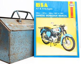 Haynes BSA Owners Workshop Manual | BSA A7 & A10 Owners Manual | Softback Book | Birthday Gift | Motorcycle Memorabilia | Motorcycle Book |