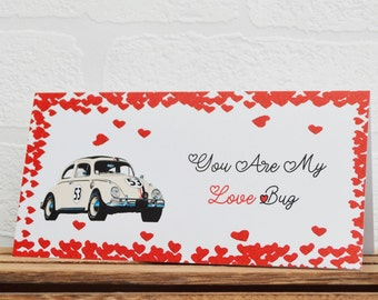 Greeting Cards | The Love Bug | Birthday Cards | Car Memorabilia | Herbie | Cards | Special Occasions | Film Cards | Valentines Cards