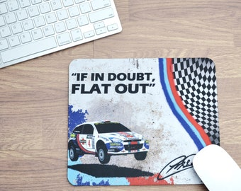 Mousepads Colin McRae Quote | Mousepads | Birthday Gifts | WRC Gifts | Car Memorabilia | Car Enthusiasts | Motorsport Gifts | Office | WRC |