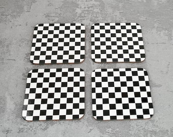 Chequered Flag Coasters | Coasters | Birthday Gifts | Coasters | Dinnerware Sets | Table Setting | Motorsport | Chequered