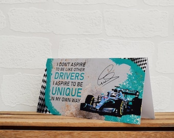 Greeting Cards | Lewis Hamilton | Birthday Cards | Car Memorabilia | Driver Quotes | Cards | Special Occasions | Motorsport Cards |