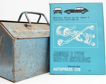 Autobook Jaguar Workshop Manual | Jaguar E Type Owners Manual | Hardback Book | Birthday Gift | Car Memorabilia | Book for Dad | Car Book |
