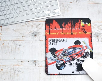 Mousemats Ferrari 312 T Haynes | Mousemats | Birthday Gifts | Ferrari Gifts | Car Memorabilia | Car Enthusiasts | Motorsport Gifts | Office