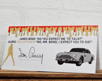 Greeting Cards | James Bond | Birthday Cards | Car Memorabilia | Film Quotes | Cards | Special Occasions | Film Cards | Sean Connery
