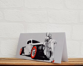 Hot Rod/Pin Up Greeting Cards | Cards | Hot Rod Card | Pin Up Card | Car Memorabilia | Car Enthusiasts | Hot Rods | Happy Birthday Cards