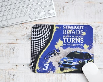 Mousemats Colin McRae Quote | Mousemats | Birthday Gifts | WRC Gifts | Car Memorabilia | Car Enthusiasts | Motorsport Gifts | Office | WRC |