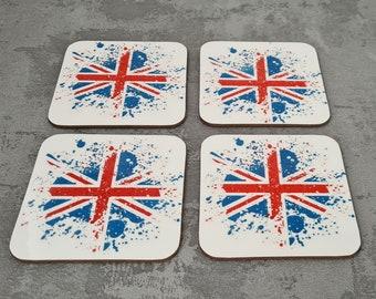 Union Jack Coasters | Coaster | Birthday Gifts | Dinnerware Sets | Table Setting | Union Jack | Britain | United Kingdom Gifts | UK Coasters