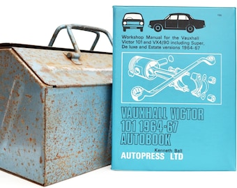 Autobook Vauxhall Workshop Manual | Vauxhall Victor & VX4/90 Owners Manual | Hardback Book | Birthday Gift | Car Memorabilia | Book for Dad