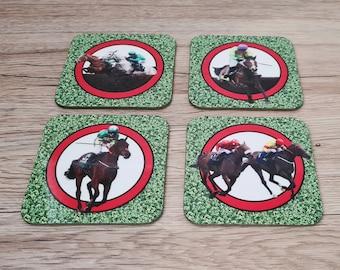 Horse Racing Coasters | Coasters | Birthday Gifts | Dinnerware Sets | Table Setting | Horse Racing | Horses | Racing Coasters