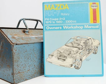 Haynes Mazda Owners Workshop Manual | Mazda RX-7 Owners Manual | Hardback Book | Birthday Gift | Car Memorabilia | Book for Dad | Car Book |