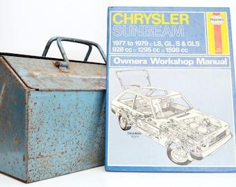 Haynes Chrysler Owners Workshop Manual   Chrysler Sunbeam Owners Manual   Hardback Book   Father's Day Gift   Car Memorabilia   Book for Dad