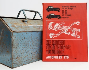 Autobook MG Workshop Manual | TA-TF Owners Manual | Hardback Book | Birthday Gift | Car Memorabilia | Book for Dad | Car Book