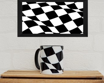 Chequered Flag Mugs | Mugs | Birthday Gifts | Gifts | Flag | Wavey Flag | Christmas Gifts| Motorsport Gifts | Mugs | Racing Gifts |