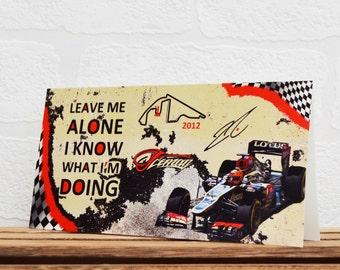 Greeting Cards | Kimi Raikkonen | Birthday Cards | Car Memorabilia | Driver Quotes | Cards | Special Occasions | Motorsport Cards |