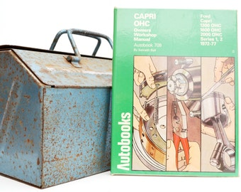 Autobook Ford Workshop Manual | Ford Capri OHC Owners Manual | Hardback Book | Birthday Gift | Car Memorabilia | Book for Dad | Car Book |