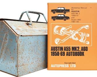 Autobook Austin Workshop Manual | Austin A55 & A60 Owners Manual | Hardback Book | Birthday Gift | Car Memorabilia | Book for Dad | Car Book