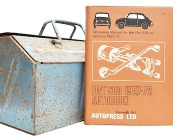 Autobook Fiat Workshop Manual | Fiat 500 Owners Manual | Hardback Book | Birthday Gift | Car Memorabilia | Book for Dad | Car Book |