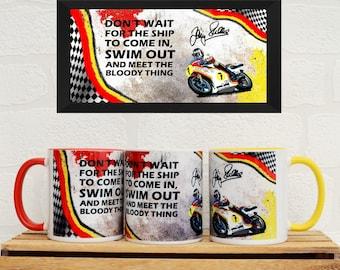 Mugs Barry Sheene Quote | Mugs | Birthday Gifts | Gifts | Team Suzuki | Suzuki | Christmas Gifts | Brawn Mugs | Suzuki Gifts |