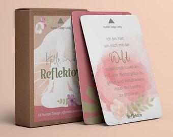 Reflector • 33 Affirmation Cards • Human Design Deck