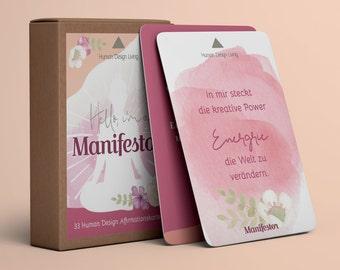 Manifestor • 33 Affirmation Cards • Human Design Deck