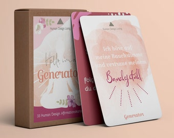 Generator • 33 Affirmation Cards • Human Design Deck