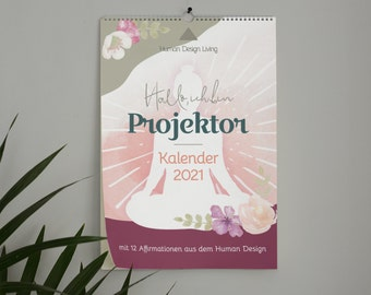 Projector • Calendar 2021 • Human Design