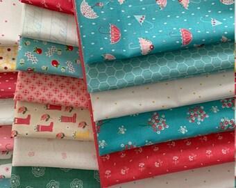 27 Piece Riley Blake Fat Quarter Bundle Spring Summer 100% Cotton Quilting Fabric