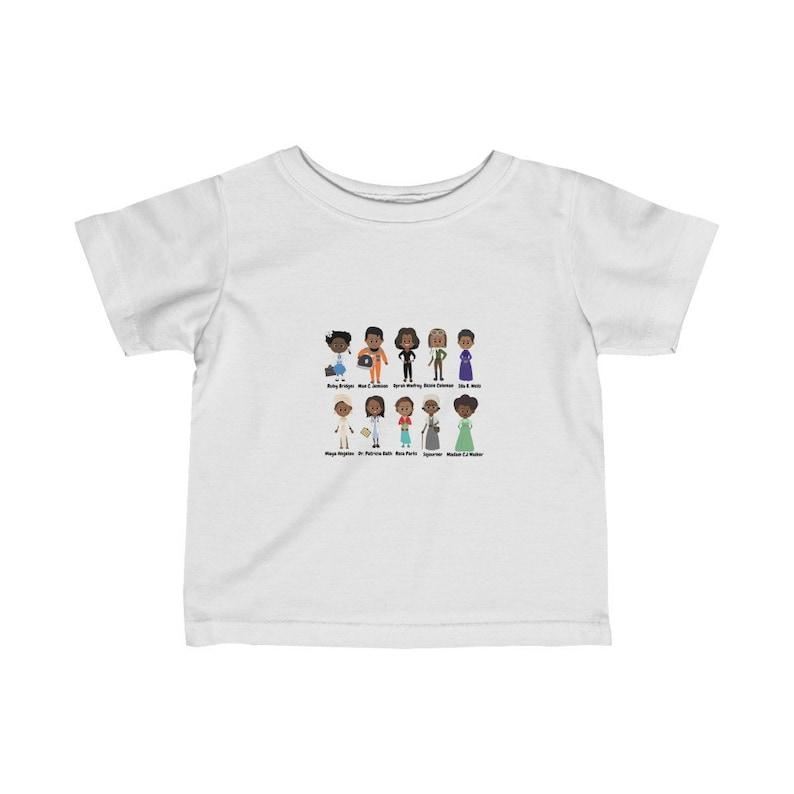 Infant Black History Tee-Woman Black History-Madam C.J-Maya-Oprah-Maya-Rosa