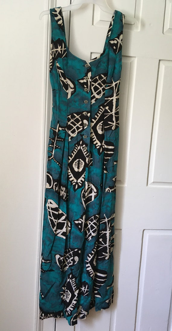 Fabulous vintage 80s abstract novelty print jumpsu