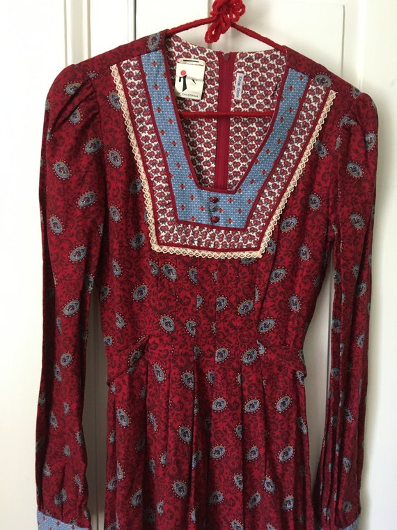 1970s Jody T of California boho prairie dress