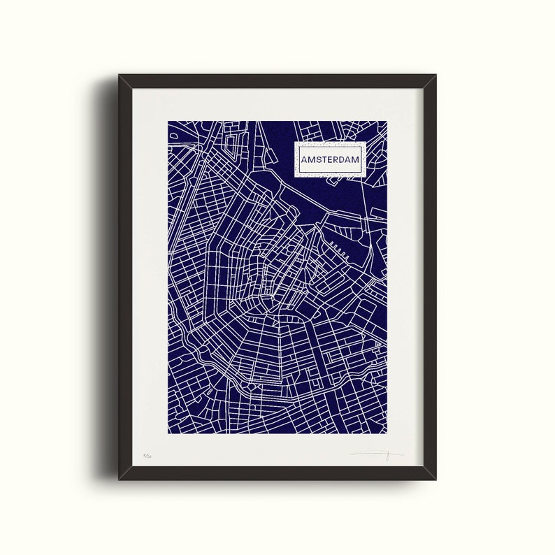 Amsterdam  Navy and silver blue silkscreen  50 copies  image 0