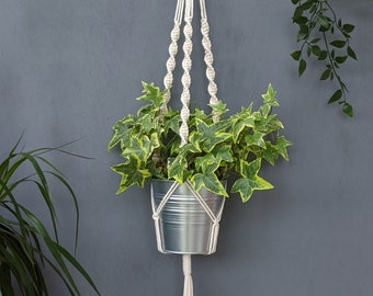 Spiral macrame plant hanger/ Boho style/ Handmade home decor/ Botanical plant accessories/ Eco-friendly handcrafted gifts