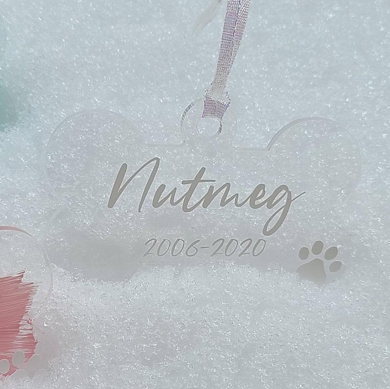 Pet Lover Christmas Kitty Ornament -Pet Memorial Keepsake Hand painted Acrylic Ornament Custom Acrylic Cat Ornament