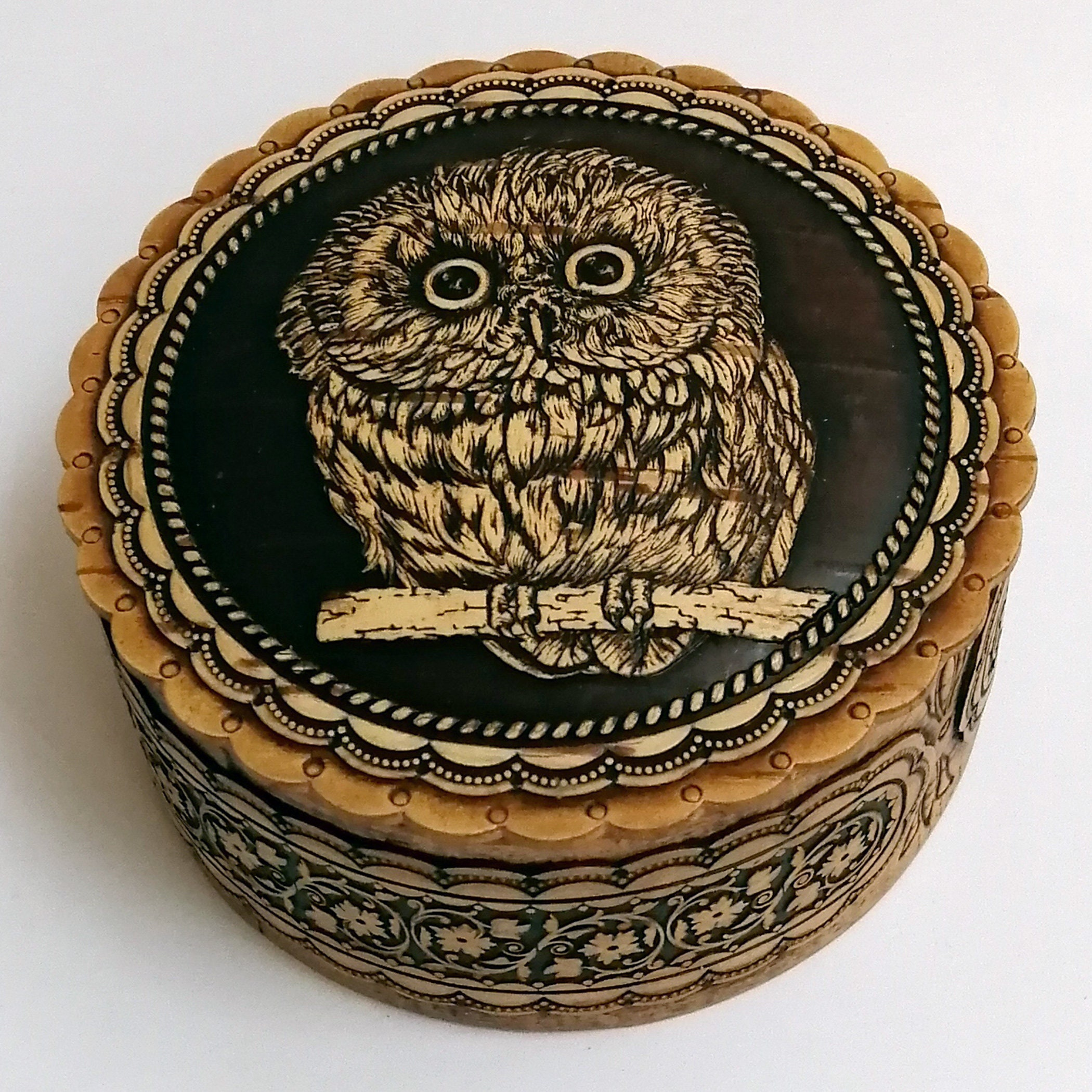 Birch Bark Box - Wood Trinket Box, Owl Gift, Jewelry Box, Wedding Gift, Owl Lovers, Bird Lover Gift, Ring Box, Eco Friendly Gifts
