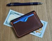 Business Card Holder,Leather Wallet,Minimalist Wallet for Men,Groomsmen gift,Cardholder wallet,Handmade,Wallet,Credit Card Wallet