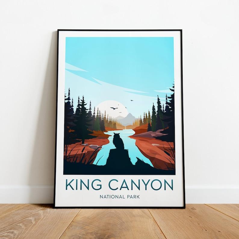 King Canyon travel print National Park