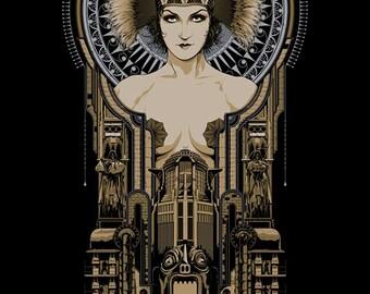 Metropolis movie gloss poster 17x 24