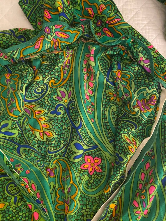 1960s Psychedelic Paisley Print - image 8