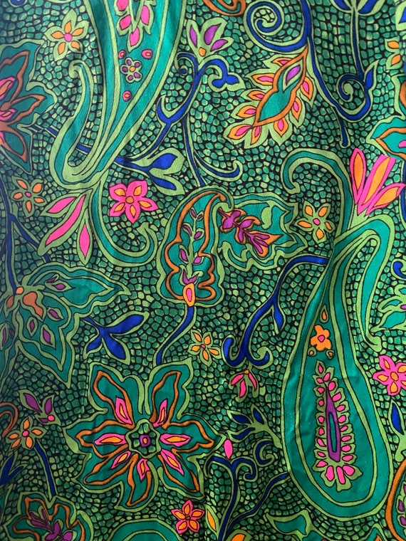 1960s Psychedelic Paisley Print - image 10