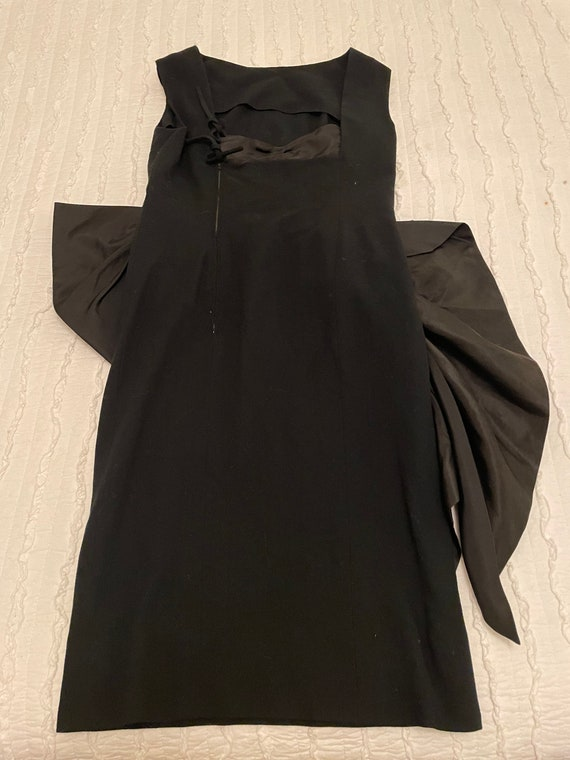 1980s Pauline Trigere Couture Dress Small / Medium - image 9