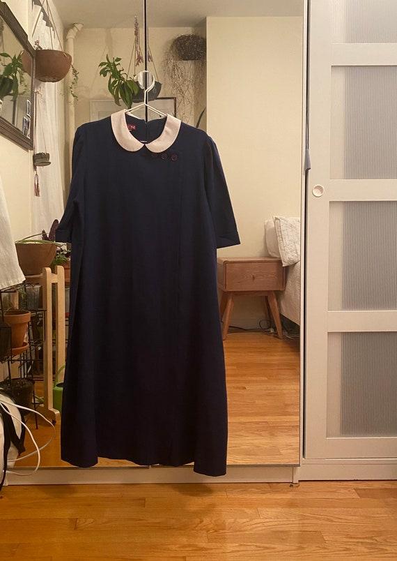 1960s Navy Blue Mod Dress XL-XXL